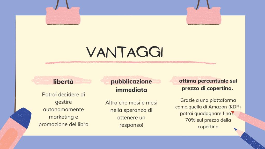 self publishing vantaggi